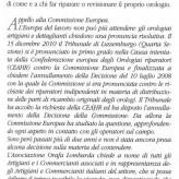 """Lettera dell'Associazione Orafa Lombarda su """"l'Orologio"""""""